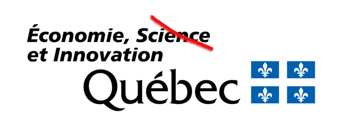 Logo du MESI avec le mot « science » rayé